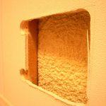 壁の中の断熱材はウレタン吹付け