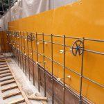 擁壁の施工過程