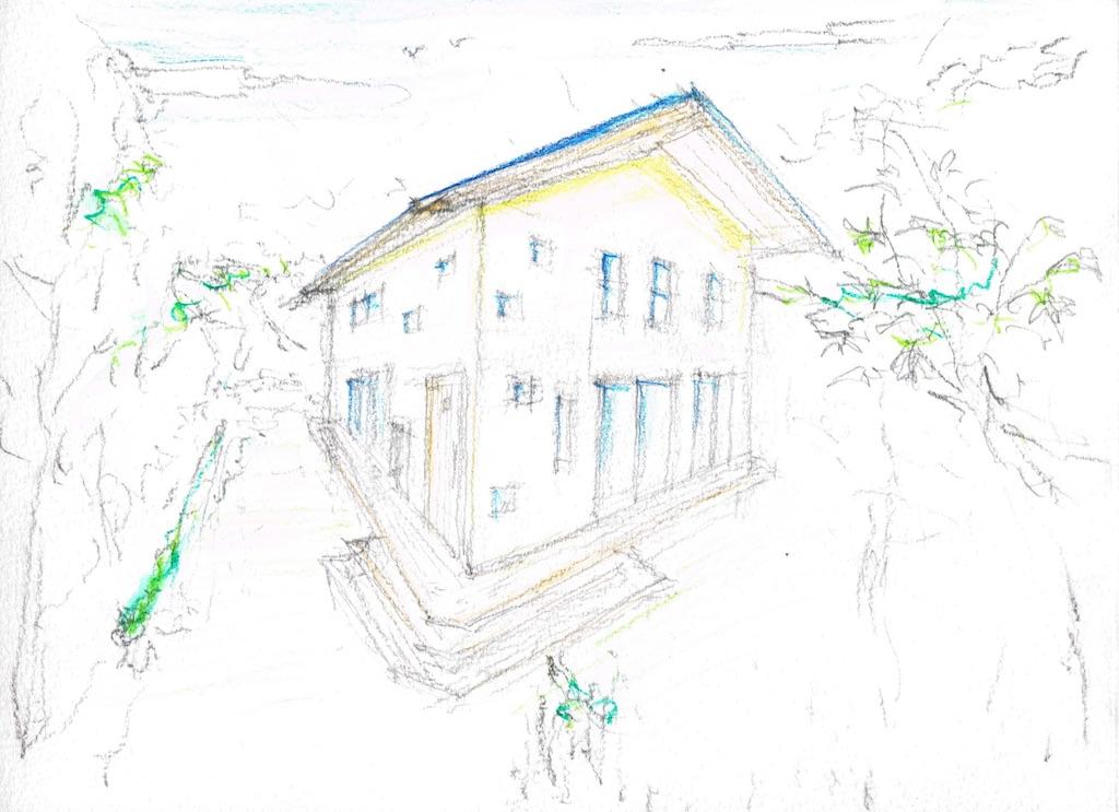 尾鷲自然乾燥の『檜・杉の家』パース